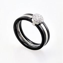 Zwarte Ring van Keramische...