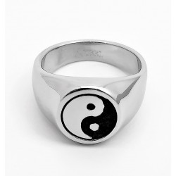 Roestvrijstalen Yin Yang Ring