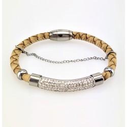 Lichtbruin Leren Armband...
