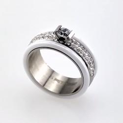 Sprankelende Witte Ring van...