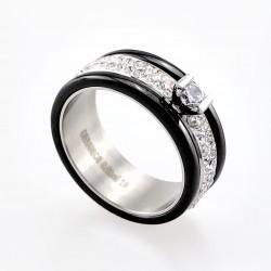 Sprankelende Zwarte Ring...