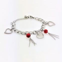 Romantische RVS Armband met...
