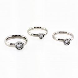 Roestvrijstalen 3-Delige Ring