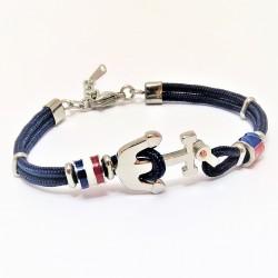 Blauwe Koord Armband met...