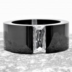 Zwarte Roestvrijstalen Ring...