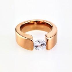 Ovale Ring in Roségoud...