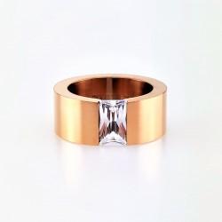 Roségouden Stalen Ring met...