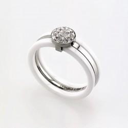 Witte Ring van Keramische...