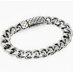 Stalen Reptiel Armband met...