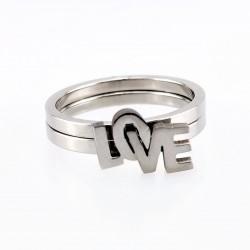 Roestvrijstalen LOVE-Ring