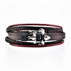 Donker Bruin Leren Armband...
