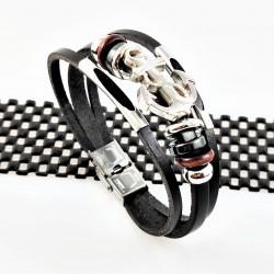 Leren Armband met RVS Anker...