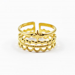 Brede Dames Ring 14 K...