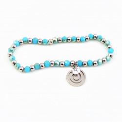 Turquoise Kristal Armband -...