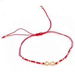 Rood Touw Geluksarmband -...