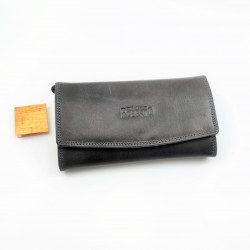 Donkergrijs RFID Lederen...