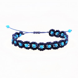 Donkerblauw Macramé Armband...