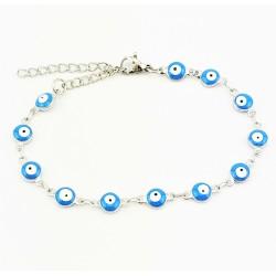 RVS Armband Lichtblauw...