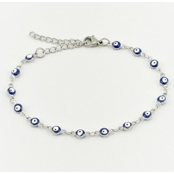 RVS Armband Donkerblauw...