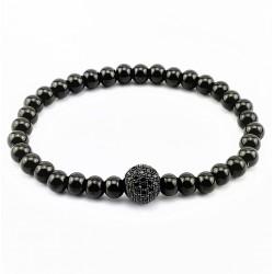 Zwarte RVS Kralen Armband...