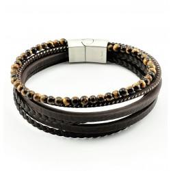 Donkerbruine Leren Armband...