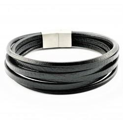 Zwarte Leren Armband Stijl...