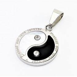 Roestvrijstalen Yin Yang...
