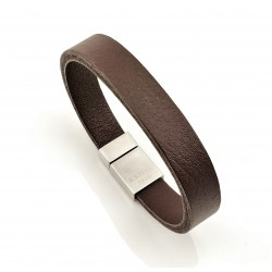 Donkerbruin Leren Armband