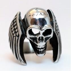 Stalen Biker Schedel Ring...