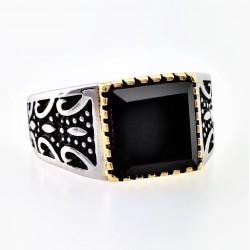 Zilveren-Gouden RVS Ring...