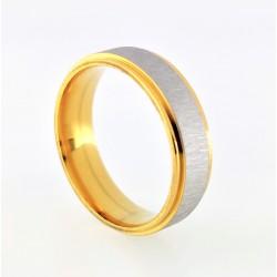 Goudkleurige RVS Ring met...