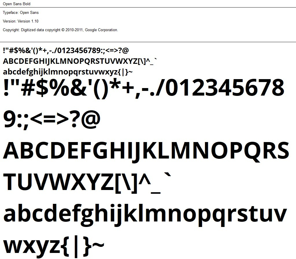 Nr.02 - Open Sans Bold