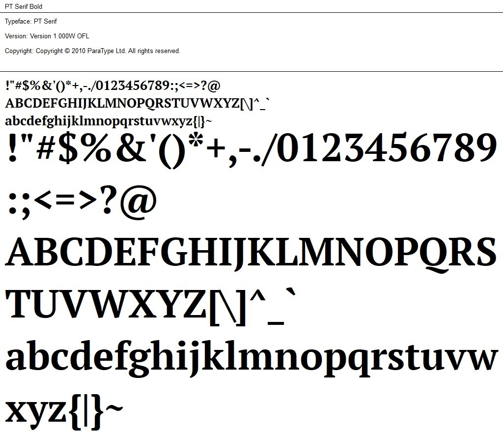 Nr.04 - PT Serif Bold