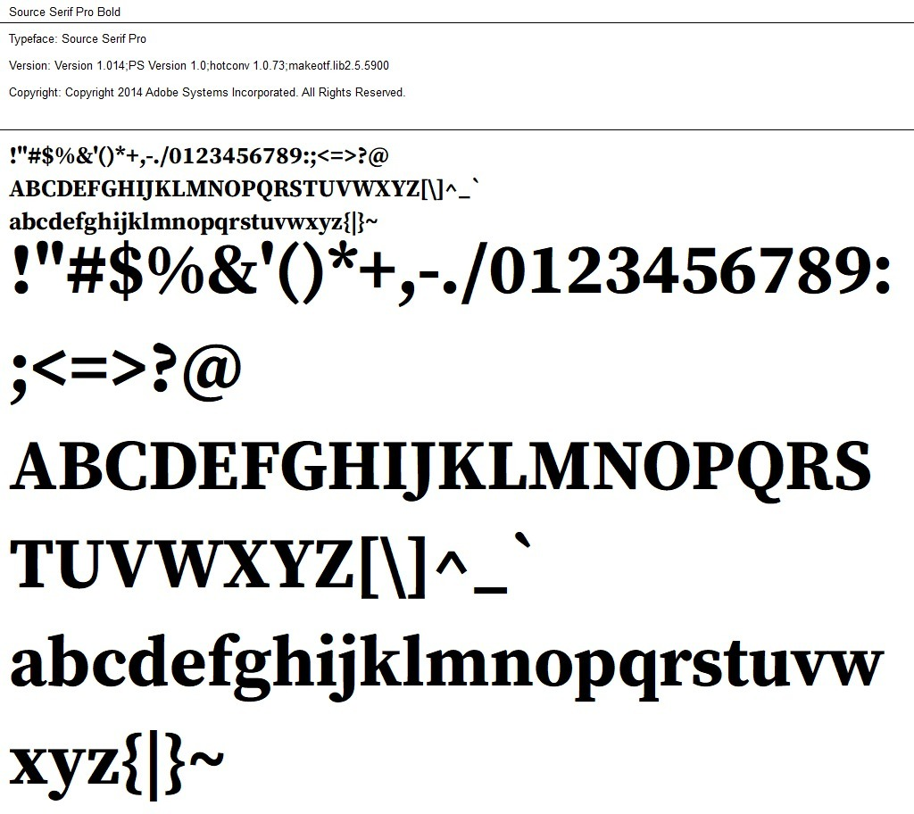 Nr.06 - Source Serif Bold